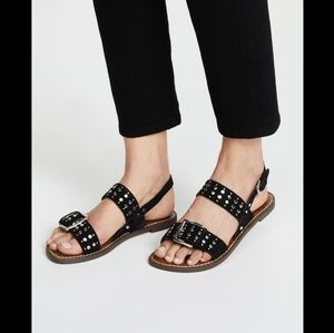 Sam Edelman Women's Glade Flat Sandal Black Sz 8
